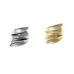 Folded Leaf Ring