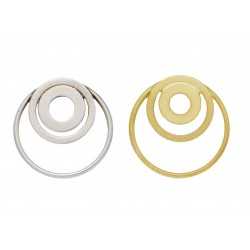 Earrings Attached Circles