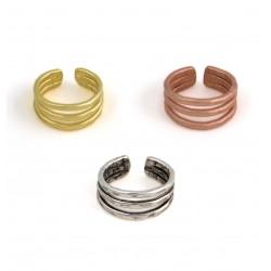 Triple-Line Ring